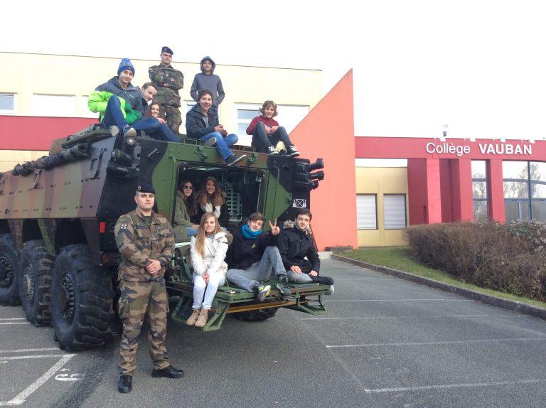 Le 35ème Régiment d'infanterie au cœur d'un projet scolaire du collège Vauban