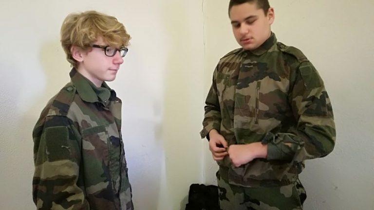 A Belfort, les cadets de la défense récupèrent leur paquetage