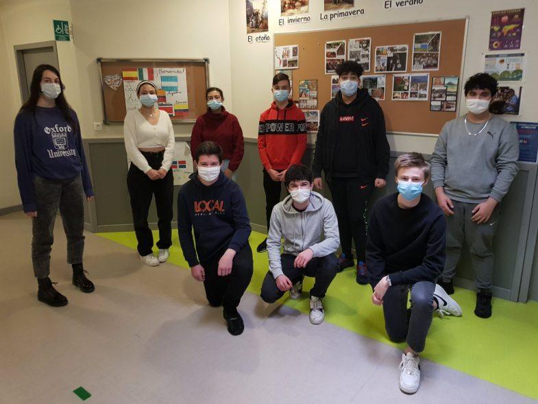 Au collège Vauban, une dizaine d'élèves participent cette année à un parcours avec Science Po Lille autour du sport et des relations internationales.  Photo ER /Aurélien BRETON